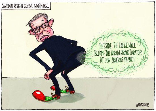 Fart Michael Gove cartoon - UK Political Cartoonist Cartoons
