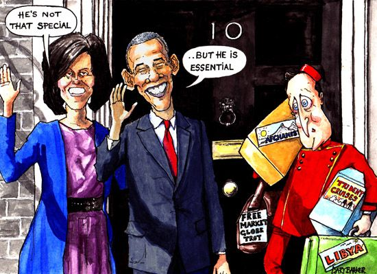 Obama cartoon cameron visit gary barker cartoonist and illustrator barack and michelle obama visit david cameron cartoon sciox Image collections