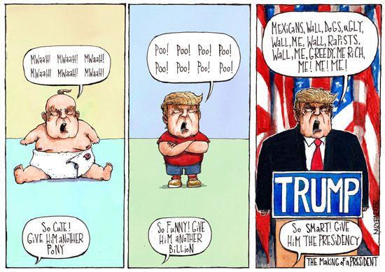 President Trump cartoon - Gary Barker Illustration