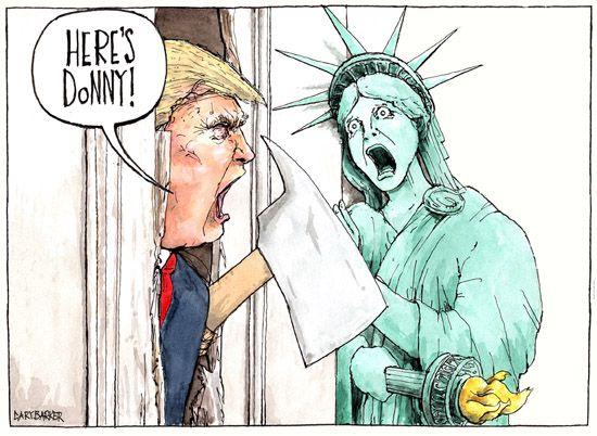 Image result for political cartoon trump cartoon
