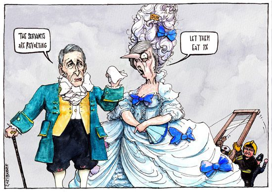 Dessin Antoinette May Cartoon UK Political Cartoonist