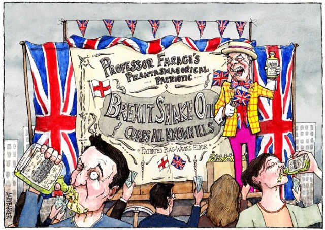 Cartoon Brexit Farage