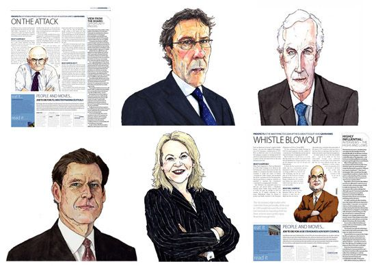 business people caricatures