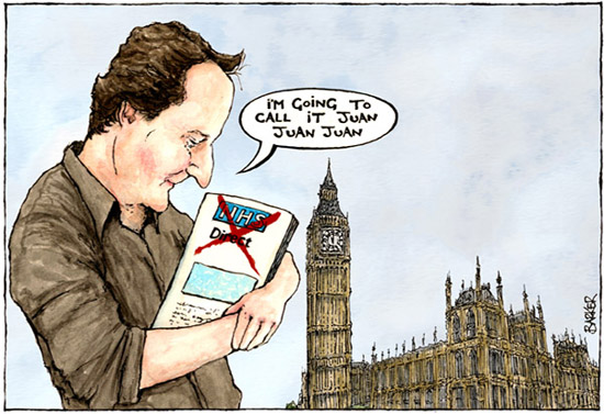 NHS David Cameron cartoon