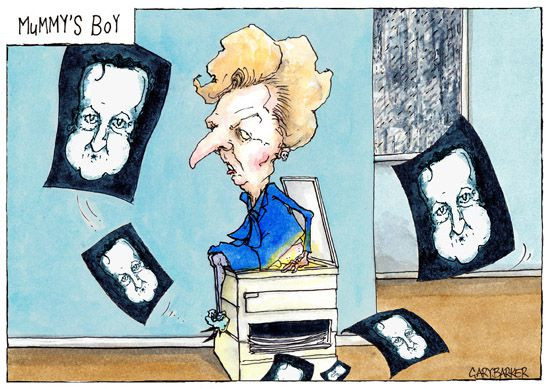 Margaret Thatcher David Cameron cartoon