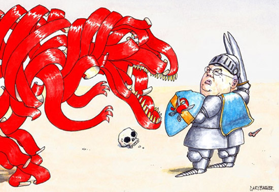 Eric Pickles red tape dragon illustration