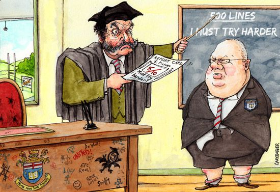 Eric Pickles mid-term report illustration