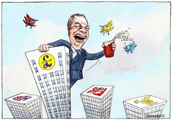 Nigel Farage cartoon UKIP