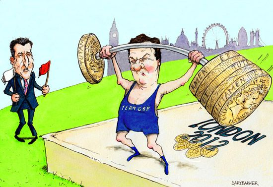 Seb Coe George Osborne cartoon