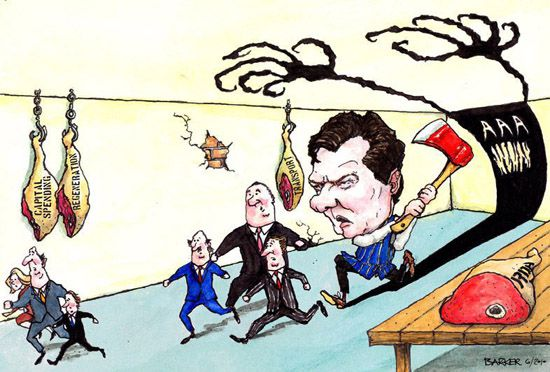 George Osborne cuts cartoon