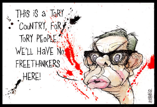 Michael Gove gonzol cartoon