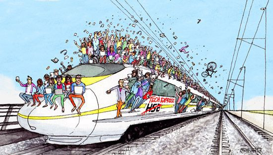 HS2 illustration cartoon