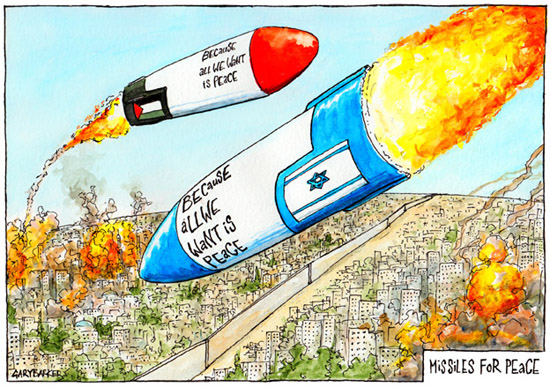 Image result for caricature palestinian fighting israel