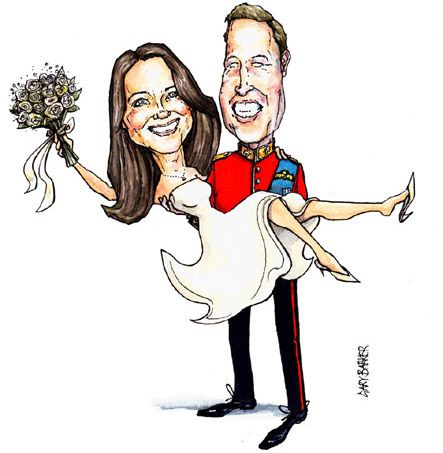 Prince William Kate Middleton caricature