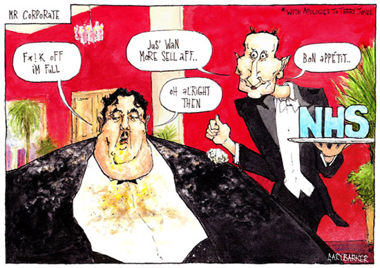 Jeremy Hunt NHS cartoon