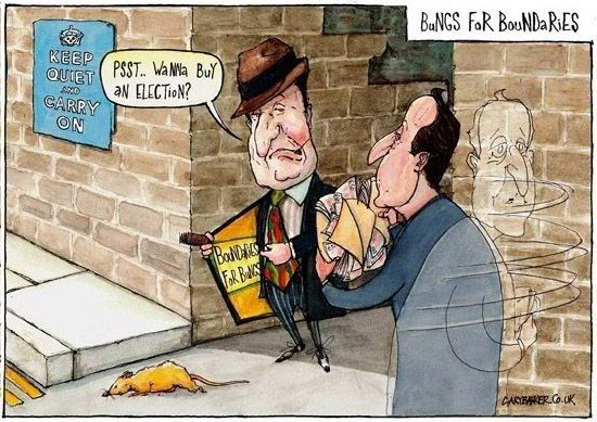 Nick Clegg and David Cameron cartoon
