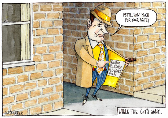 Spiv Nick Clegg cartoon