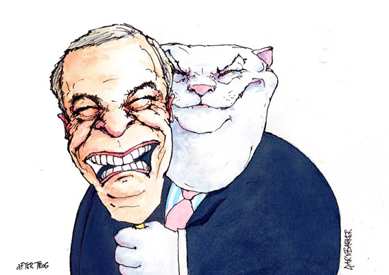 Nigel Farage UKIP fat cat cartoon