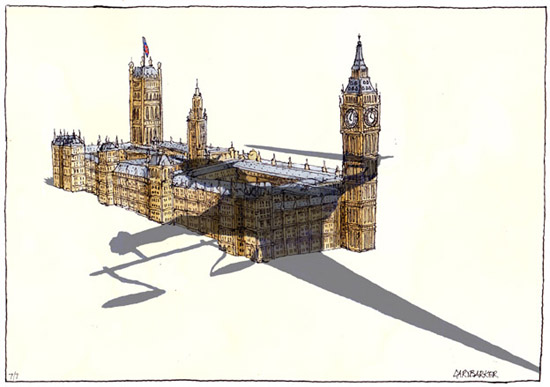 Justice Houses of Parliament cartoon