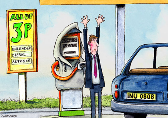 Petrol fuel price rise editorial