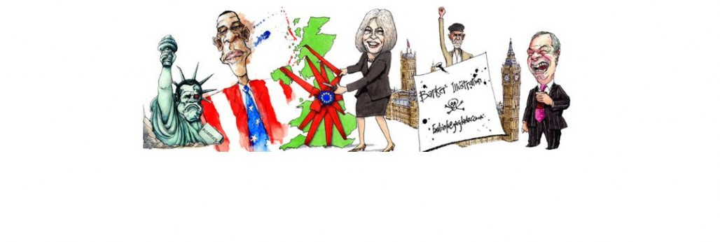 gary barker uk political cartoonist illustrator