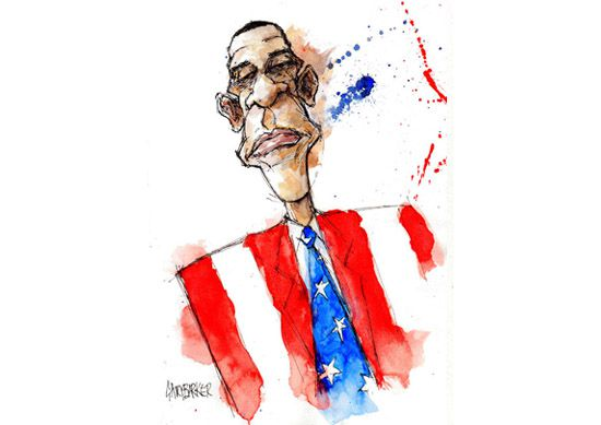 Barack Obama caricature cartoon