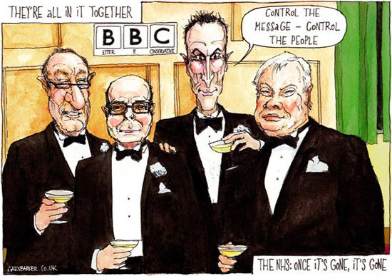 BBC and the Tories cartoon