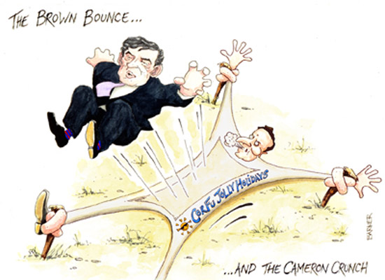 Gordon Brown bounce editorial