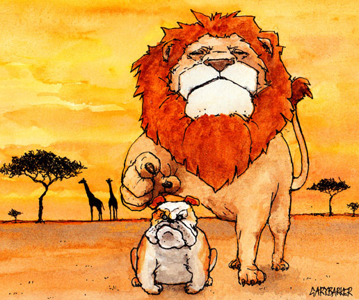 Bulldog Lion illustration