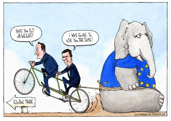 George Osborne David Cameron EU UK referendum cartoon