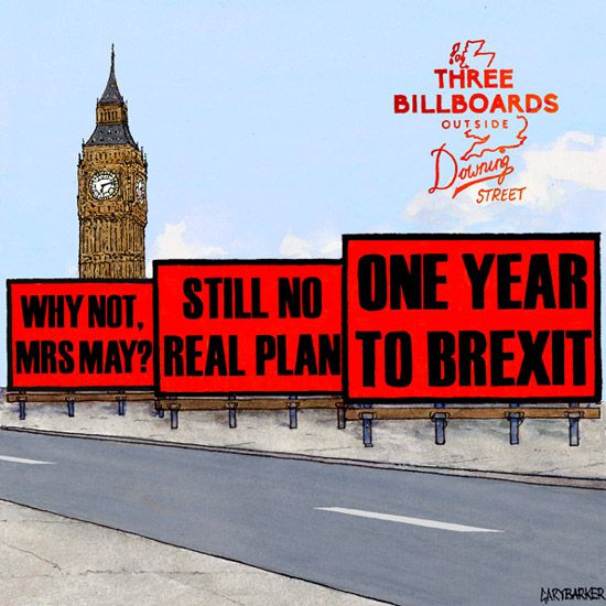 cartoon brexit three billboards