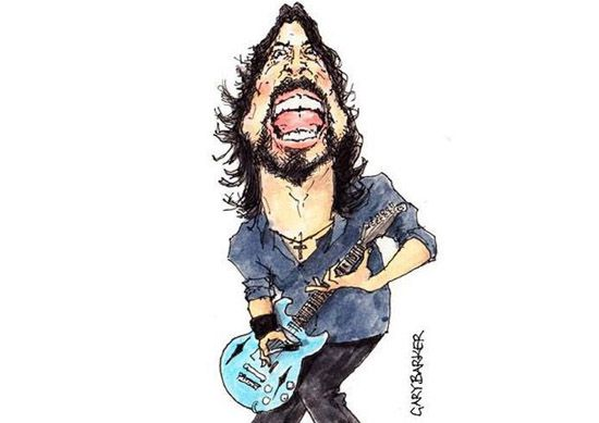 Dave Grohl caricature cartoon