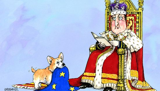 Queen's Speech David Cameron cartoon