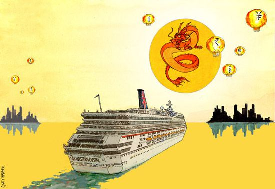 cruise investment tiger economy illustration
