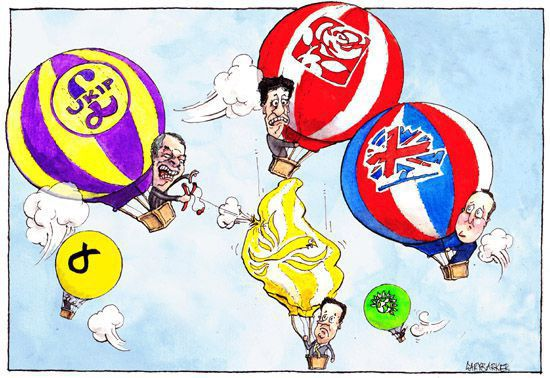 Party balloons David Cameron cartoon
