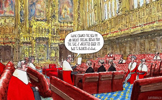 EU Brexit house of lords cartoon