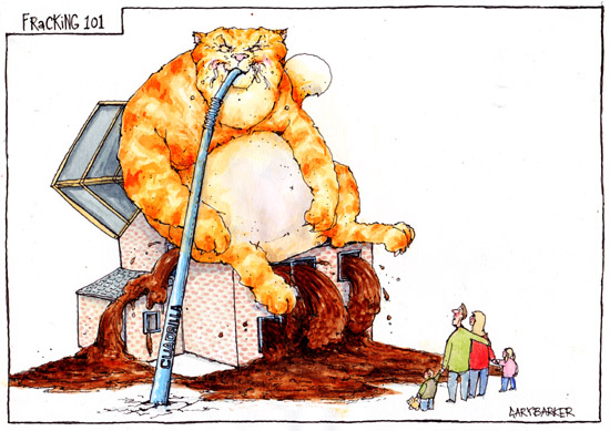 Fracking cartoon fat cat