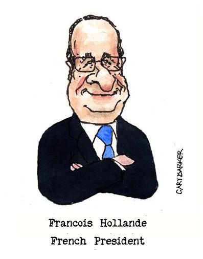 Francois Hollande dessin cartoon caricature