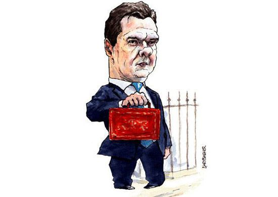 Chancellor George Osborne cartoon