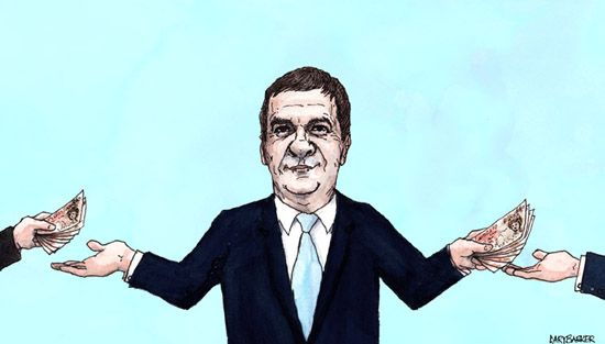 George Osborne caricature