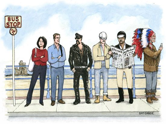 Isle of Man Village People cartoon