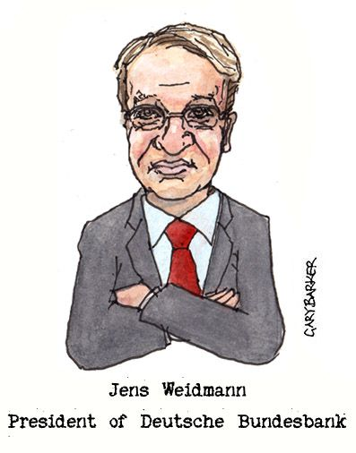 Jens Weidmann caricature cartoon