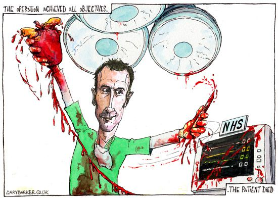 NHS, Jeremy Hunt, cartoon
