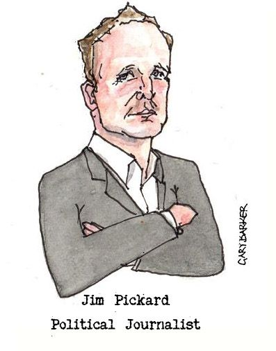 Jim Pickard caricature cartoon