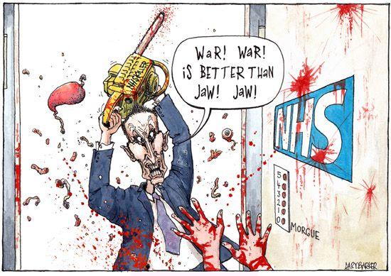 NHS Junior Doctors Jeremy Hunt cartoon