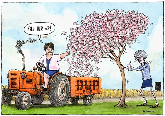 Theresa May Arlene Foster cartoon