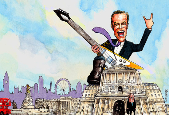 Mark Carney Bank of England illustration