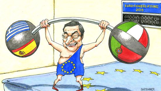 Marion Draghi cartoon caricature