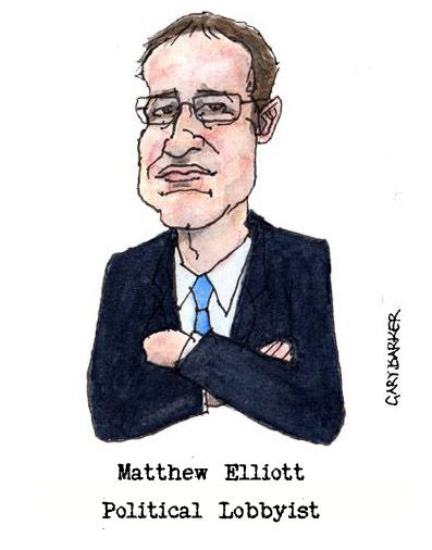 Matthew Elliott caricature