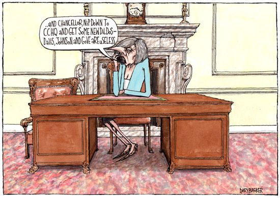 Theresa May cartoon dildos